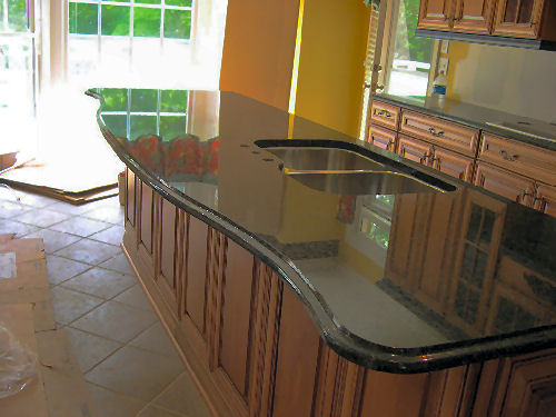 Uba Tuba 3CM Granite Countertops Demi Bullnose Edge 60-40 Undermount